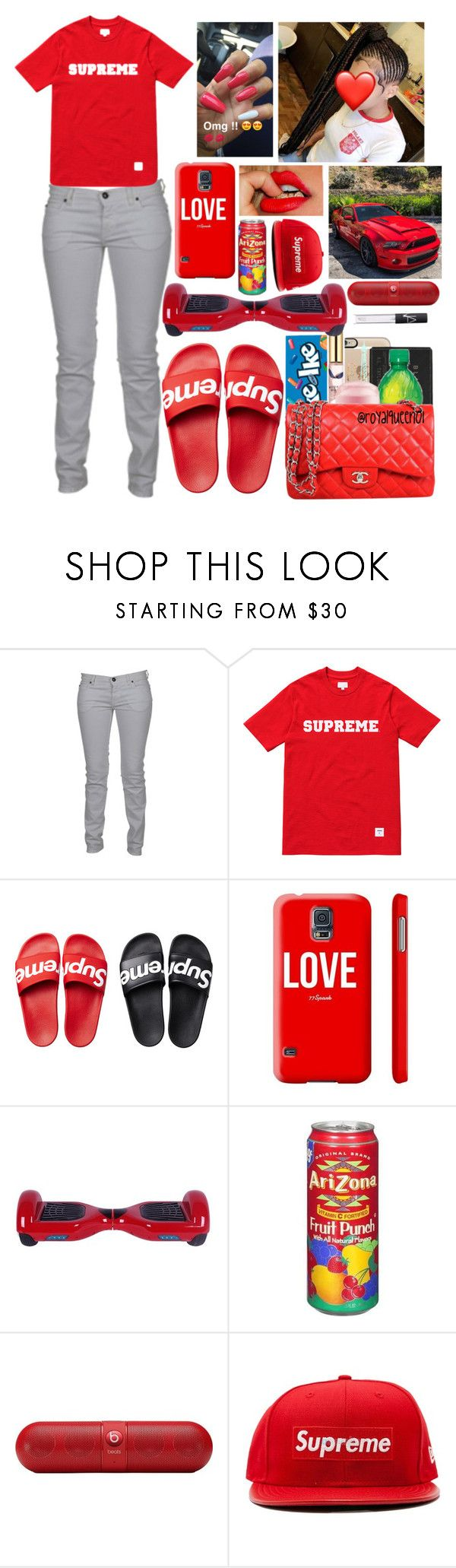 """""""Supreme❤️"""" by officially-mya ❤ liked on Polyvore featuring Just Cavalli, Beats by Dr. Dre, New Era and NARS Cosmetics"""