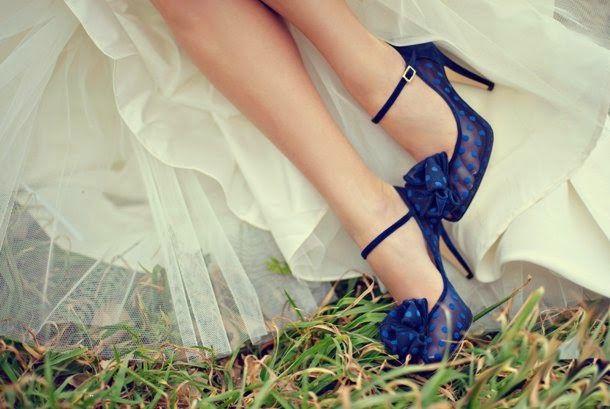 Zapatos de novia azules | Bodas