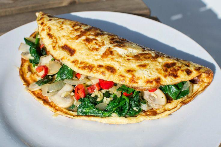 Healthy omelet gevuld met groente!