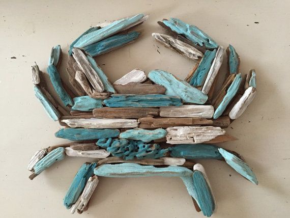 Painted Driftwood Crab Made to Order by MermaidsMasterpiece