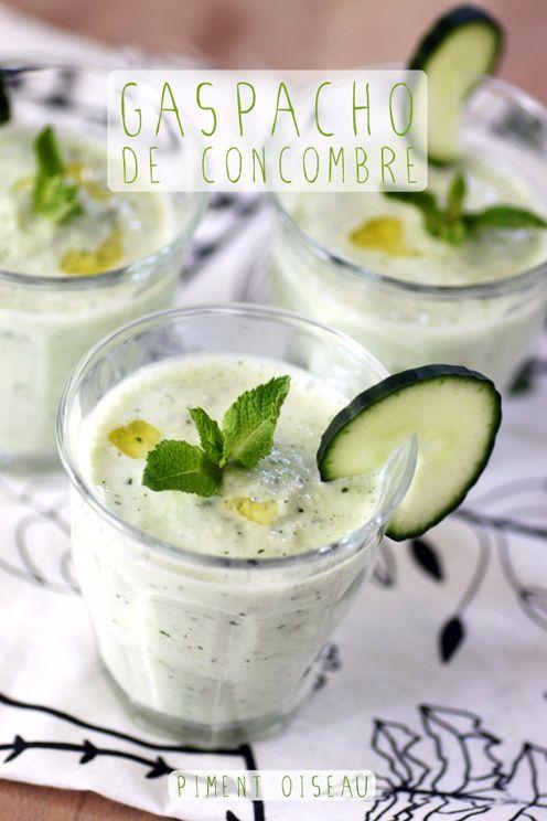 Gaspacho de concombre à la menthe- Cucumber fresh mint gaspacho