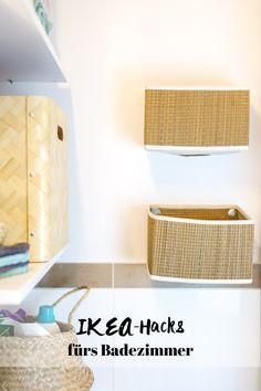 Stauraum für kleine Badezimmer IKEA Bad IKEA Hacks Badezimmer I Salnan Körbe DIY I
