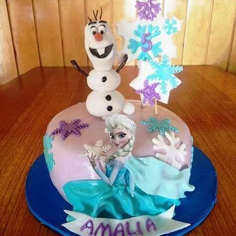 #Frozen #Olaf #Elsa #fondat #cake by Volován Productos  #instacake #Chile #puq #VolovanProductos #Cakes #Cakestagram