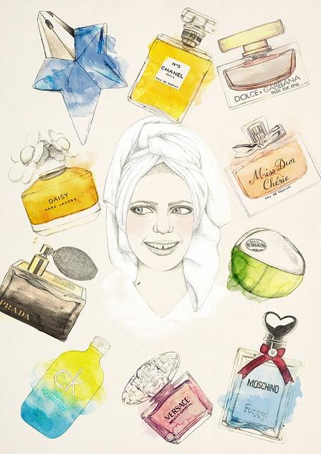 perfumes #illustration #watercolor