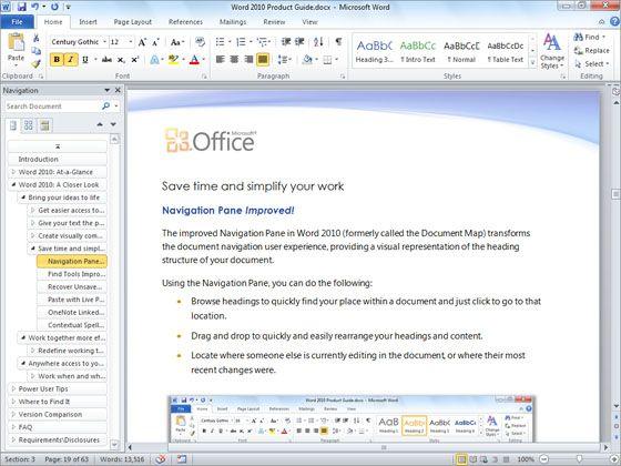 Microsoft WORD 2010 Screenshots