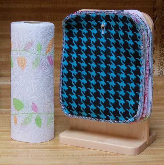 40 Reusable Kitchen Wipes, 8 inch by 10 inch, reusable paper towels, kitchen cloth