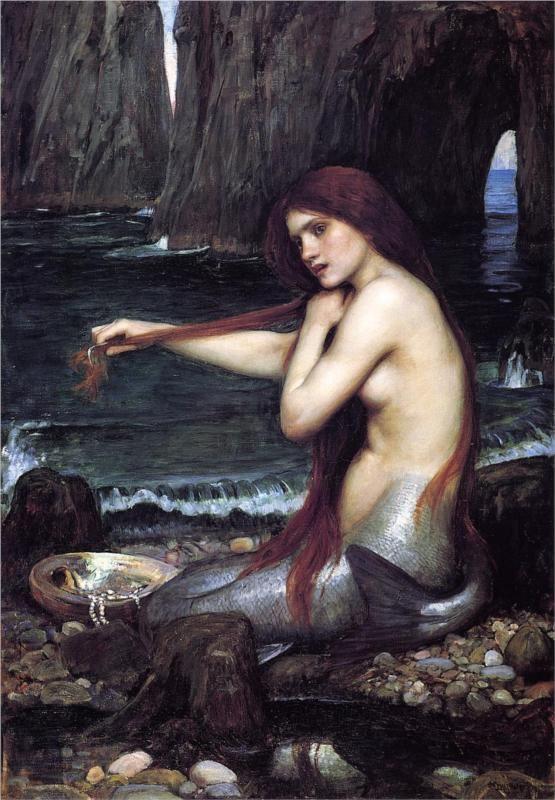 A Mermaid (1900) by John William Waterhouse