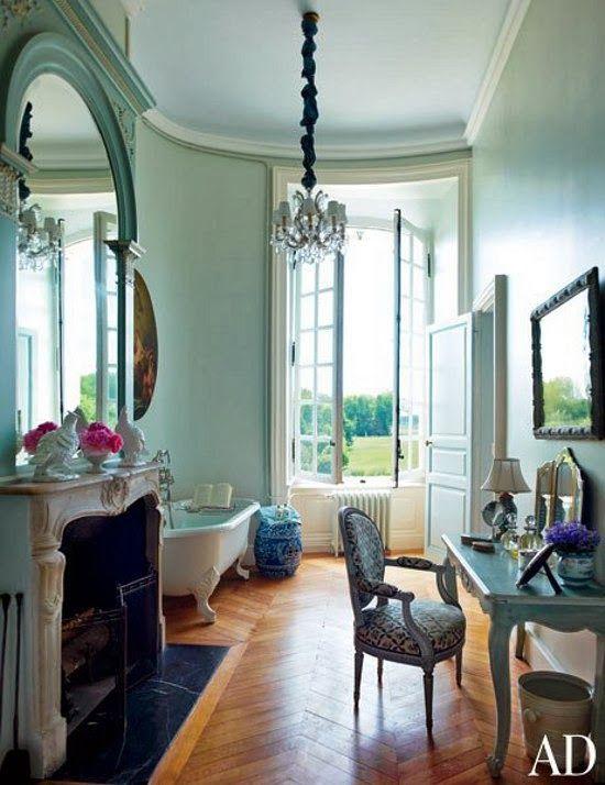 dustjacket attic: Interiors | Château du Grand-Lucé | Loire Valley
