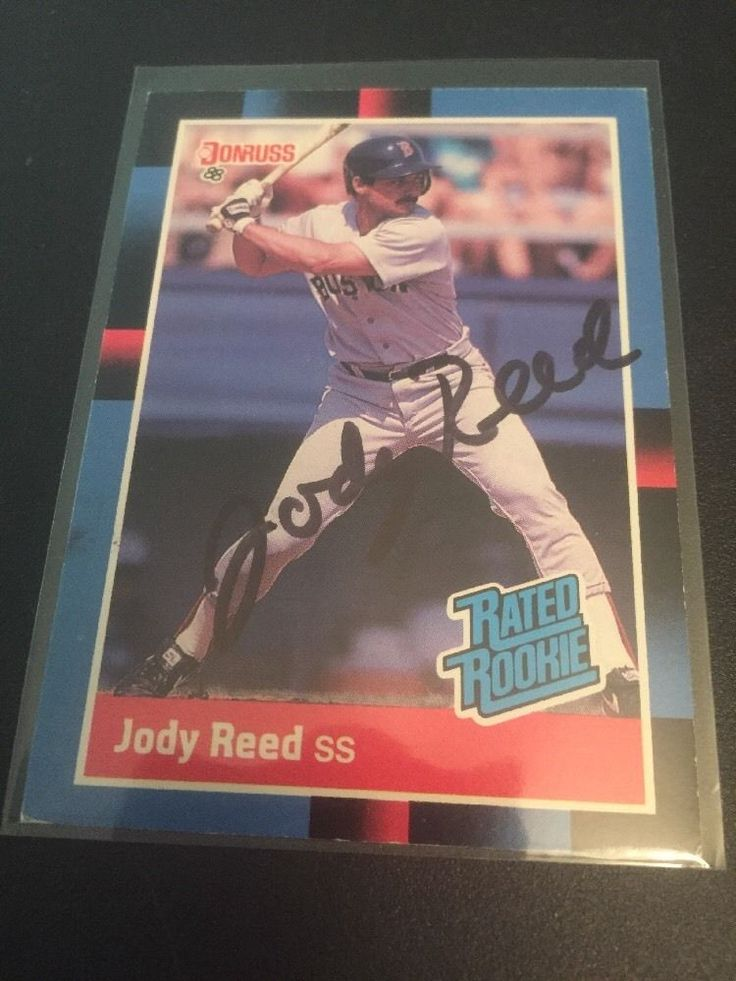 Jody Reed Boston Red Sox Autographed Card Dodgers Padres Tigers Brewers
