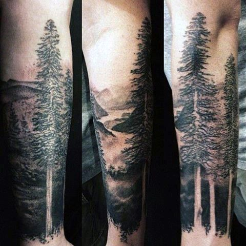 Manly Forearm Sleeve Tattoo Designs For Men