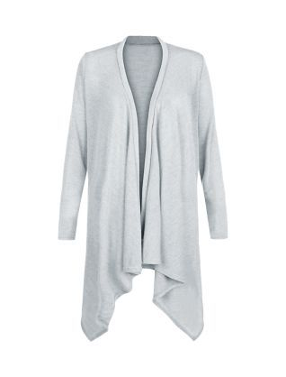 Cameo Rose Grey Waterfall Cardigan  | New Look