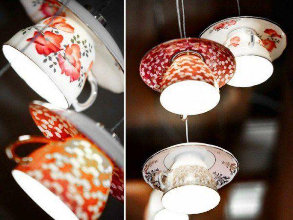 klassisch teetassen hängend lampen glühbirnen diy