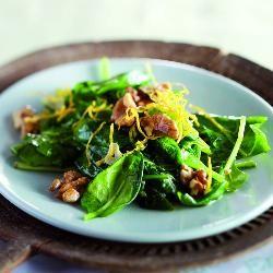 Roergebakken spinazie met walnoten - Boodschappen
