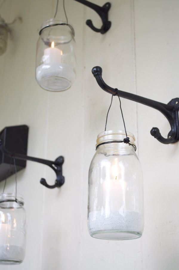 mason jar lighting ideas                                                                                                                                                                                 Más