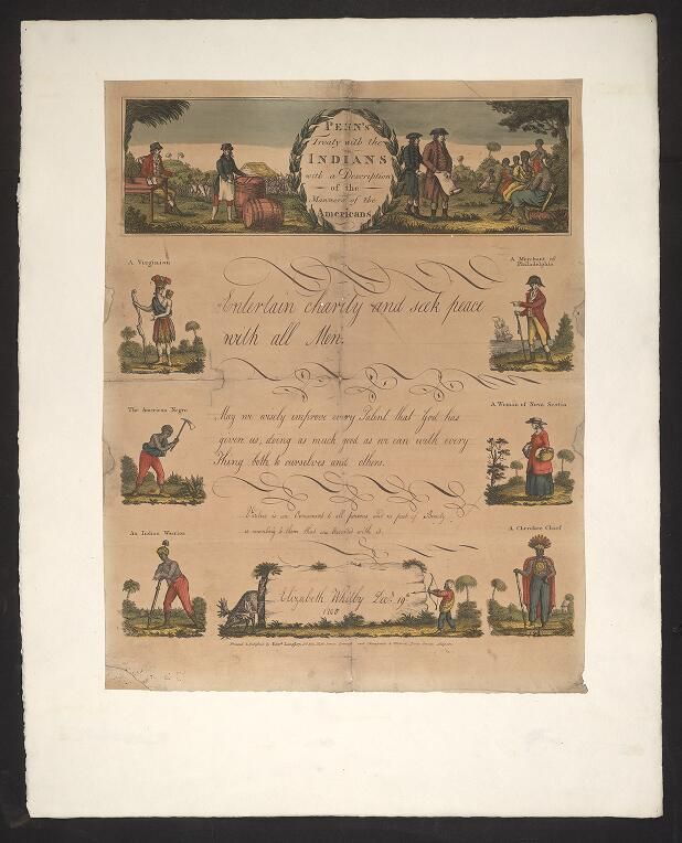 Penn's treaty with the Indians with a description of the manners of the Americans
