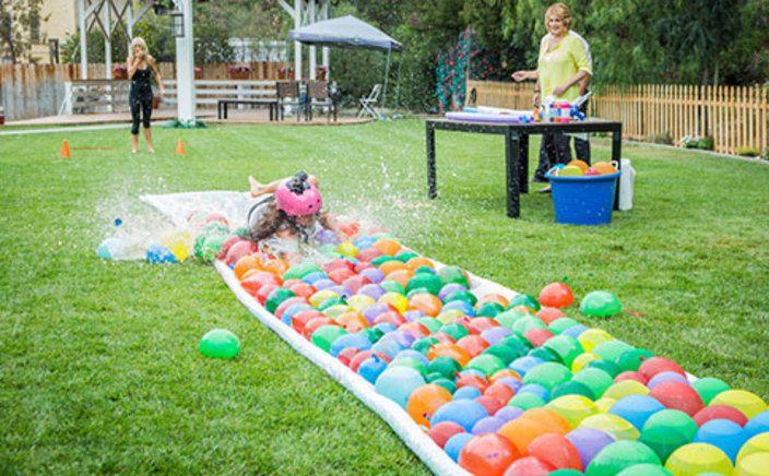 Tanya Memme's DIY Water Balloon Water Slide