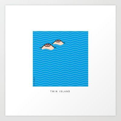Twin Island Art Print by Serpentino - $13.00