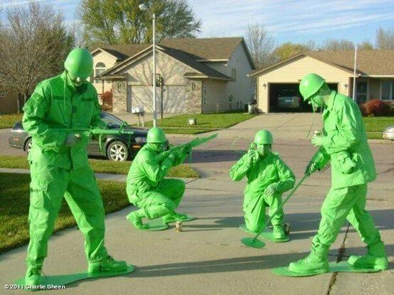 おもちゃの兵隊 -手作りハロウィン仮装のアイデア