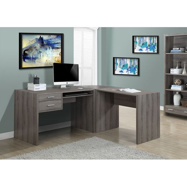 Monarch Specialties Inc. L Shaped Computer Desk Extension U0026 Reviews |  Wayfair $133,