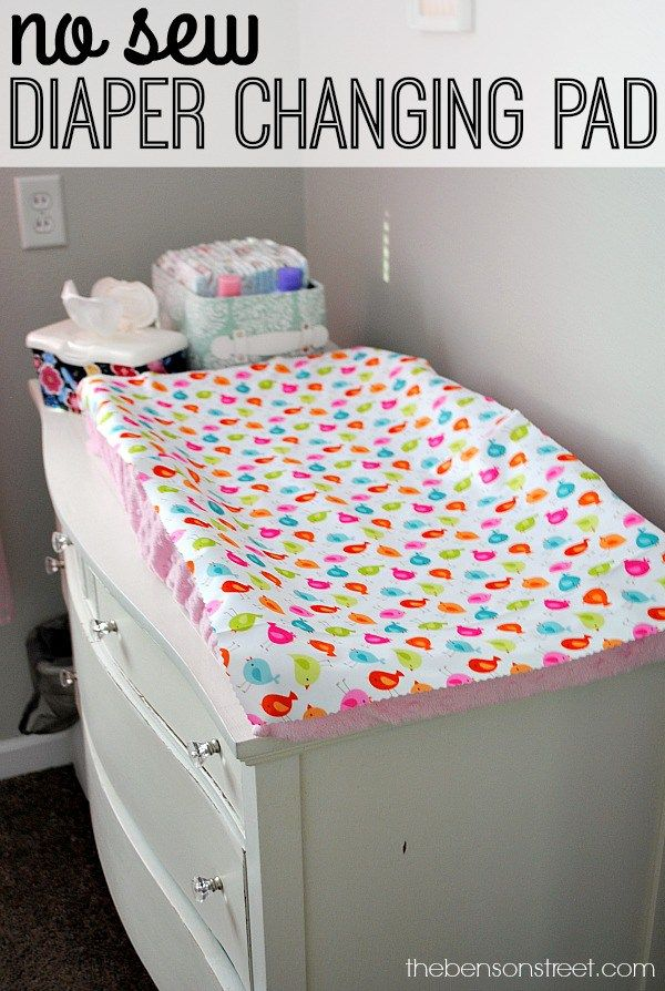 how to make a baby diaper changing mat