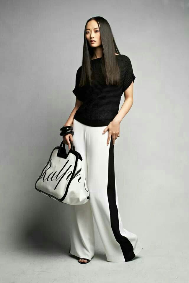 Black and white... Over size bag · Ralph Lauren ...