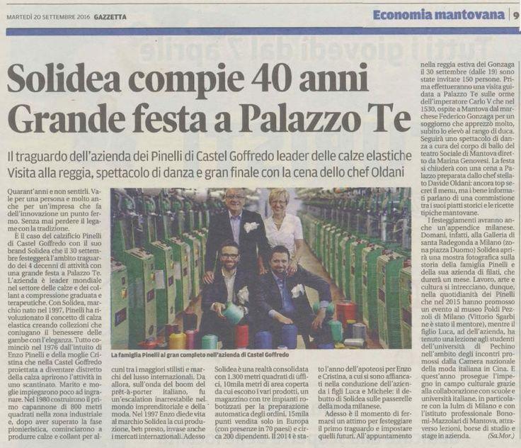 Gazzetta di Mantova, 20 Settembre 2016 #press