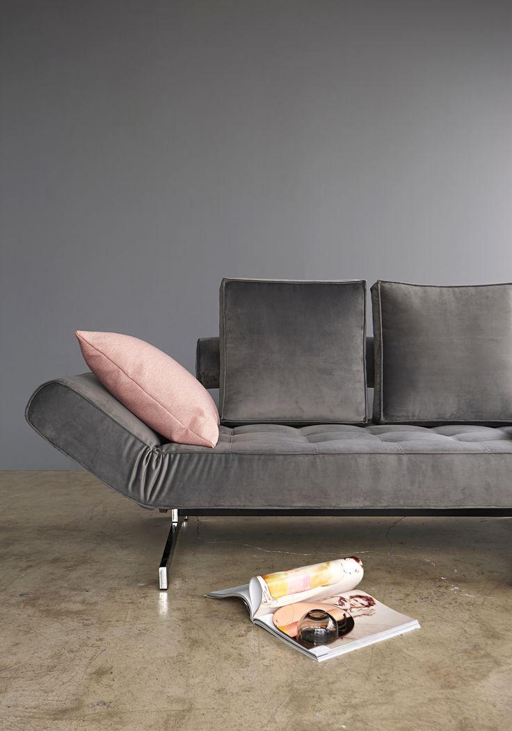 Ghia in grey velvet