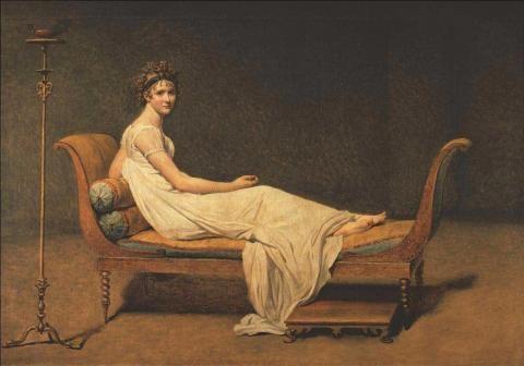 Madame Recamier by Jacques Louis David ( 1748-1825)