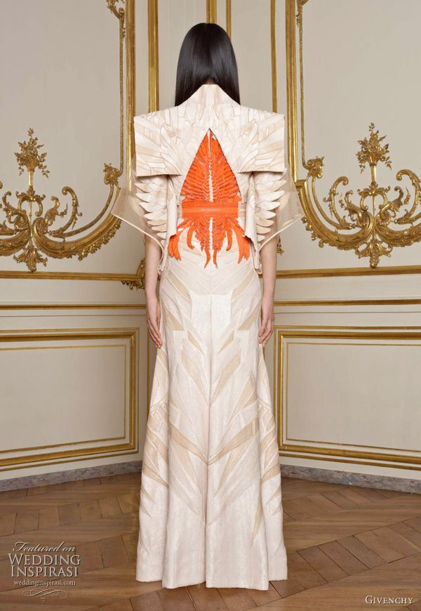 Givenchy S/S 2011 couture collection - designed by Riccardo Tisci, the collection heavily features Eastern Asian elements