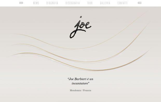 Official website of Joe Barbieri - Webdesign inspiration www.niceoneilike.com
