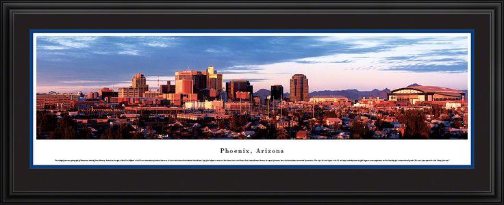Phoenix Skyline Panoramic Picture, Arizona - Deluxe Frame $199.95