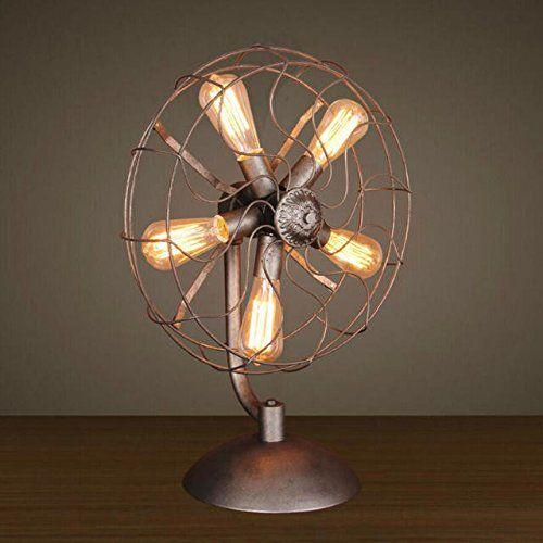 Industrial Metal Fans Desktop Lamp
