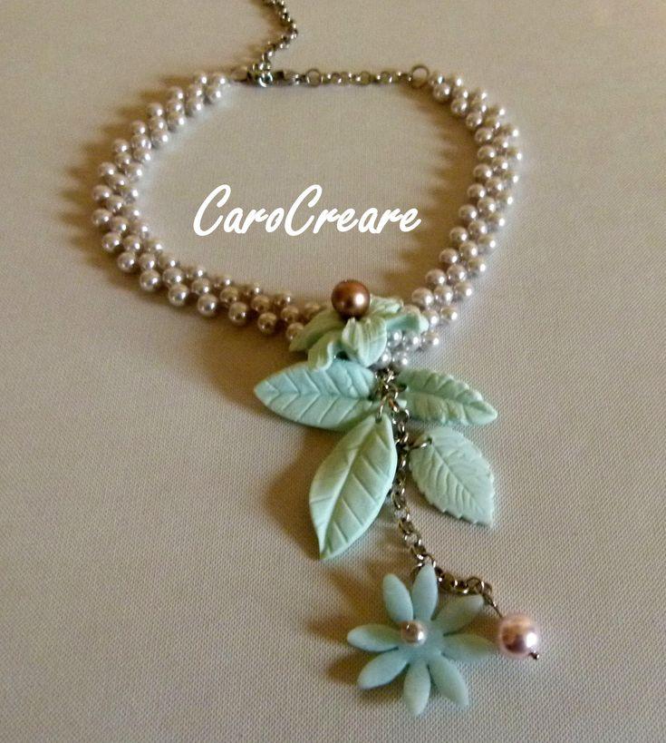 Blütenzauber in Rose und Pastellgrün von CaroCreare auf Etsy