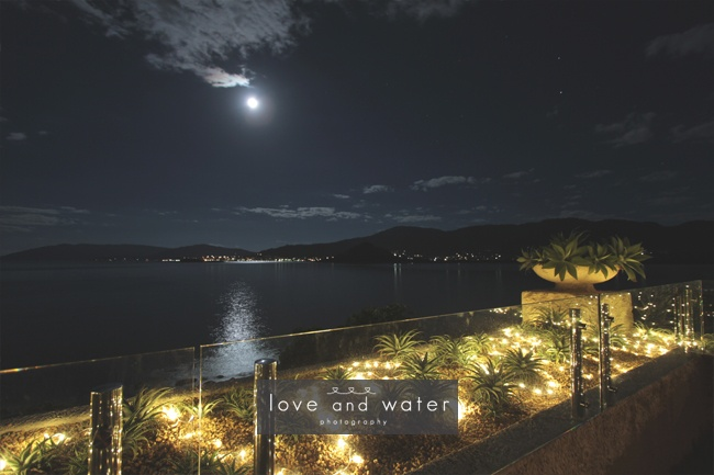 Full moon over the Coral Sea and Airlie Beach from our Seadeck
