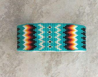 Abalorios pulsera, joyería de Navajo, nativos americanos pulsera, granos de navajo, navajo, joyería indígena, abalorios pulsera brazalete de Navajo, turquesa