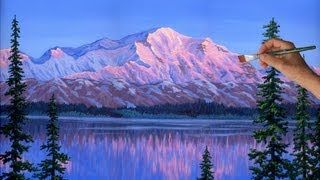 Painting Mountain Glaciers Complete Lesson Acrylic Paint How to, via YouTube.