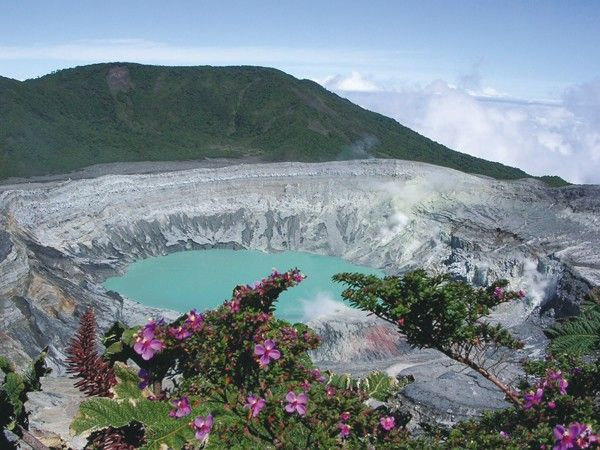 Volcan Poas, San Jose, Costa Rica... Just two more weeks and I'll be here