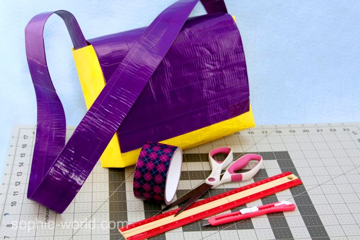 How to make a DUCT TAPE Messenger Bag, a 4-part series with photo & video tutorials | Sophie's World