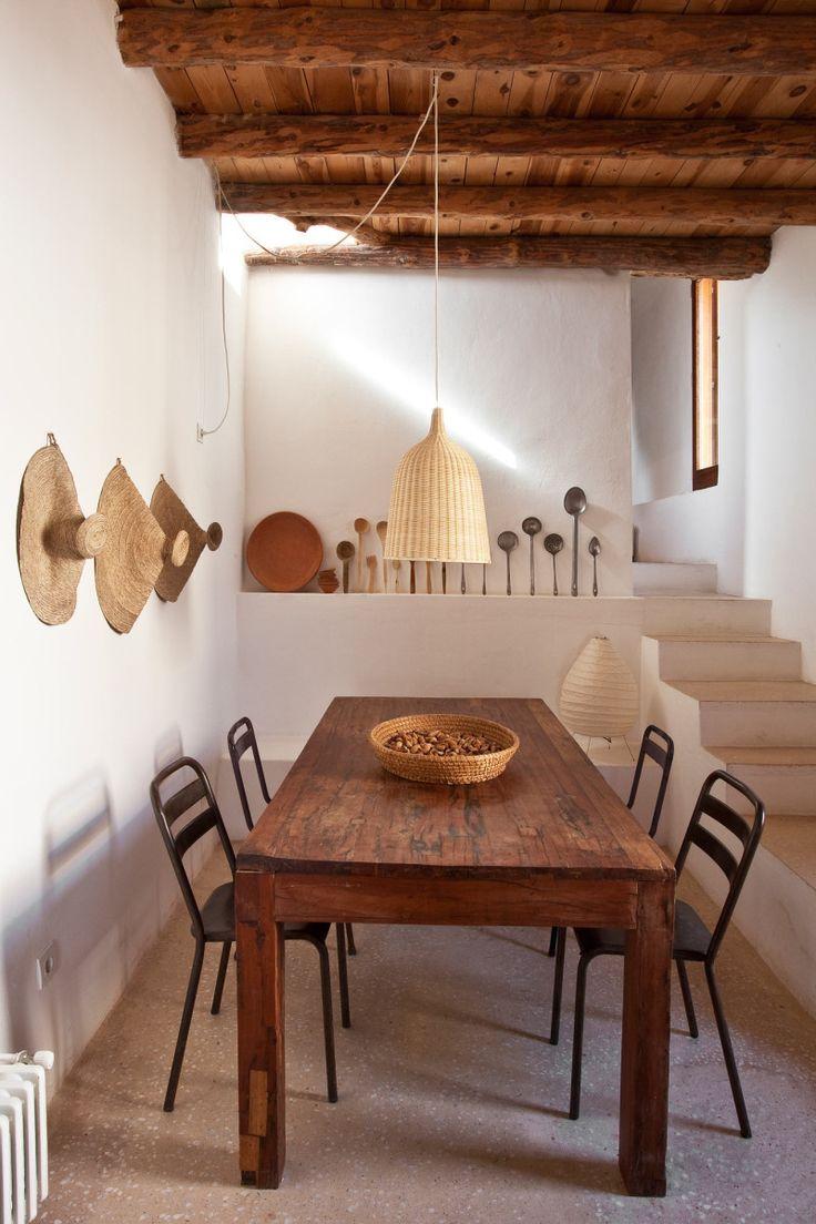 Une maison au style rustique bohème à Ibiza …