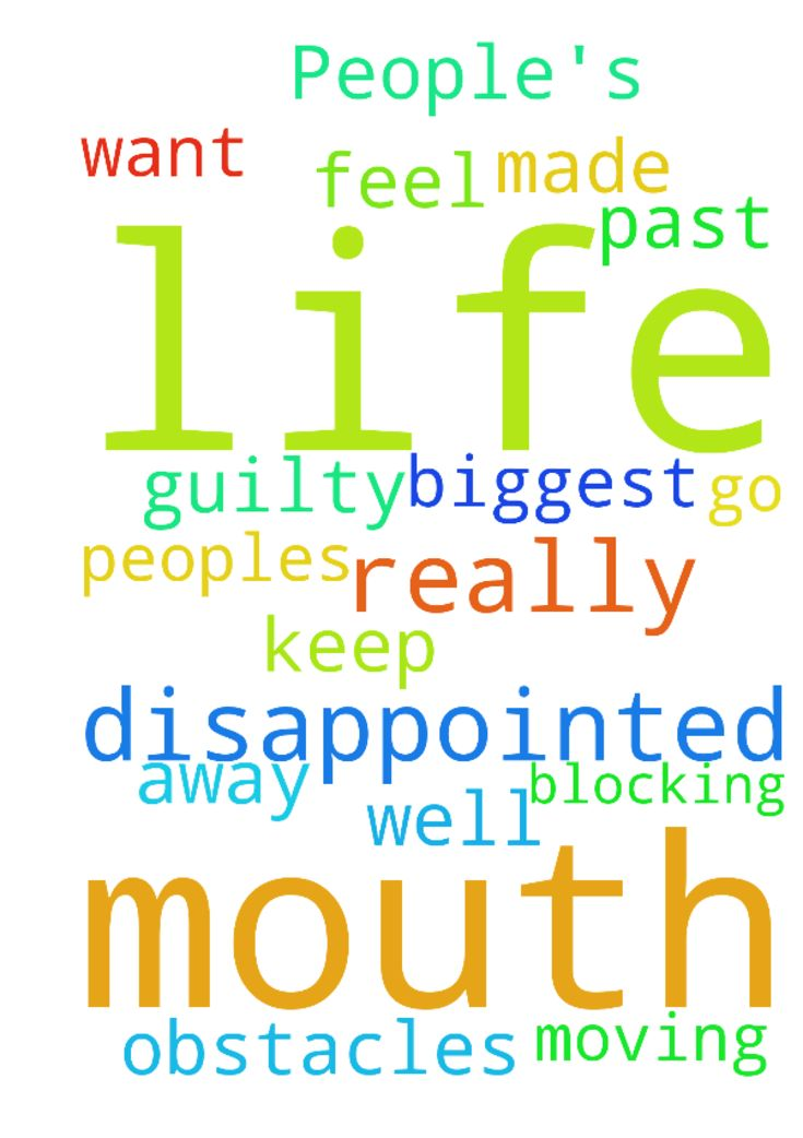 Life has really disappointed me. People's mouth have - Life has really disappointed me. Peoples mouth have made me feel guilty. I want this but my past life is the biggest obstacles blocking me from moving on. Lord please let it be all well.. Please dont let this go away from me. Please let me keep this. In Jesus name. Amen.  Posted at: https://prayerrequest.com/t/p6O #pray #prayer #request #prayerrequest