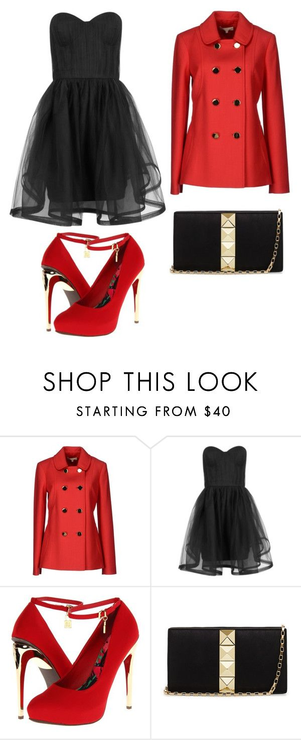"""""""black and red"""" by ambitious-famous ❤ liked on Polyvore featuring Michael Kors, Alice + Olivia, 2 Lips Too and 2b bebe"""
