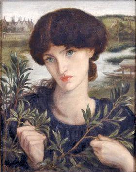 Portrait of Jane Morris at Kelmscott Manor by Dante Gabriel Rossetti.
