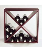 Wine Enthusiast Companies Stackable Cube 24 Bottle Tabletop Wine Rack 640 24 03 / 640 24 04 Finish: Mahogany