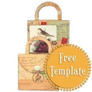 CD Holder  Template   http://stampington.com/the-studio/tempting-templates/free-tempting-template-CD-Holder