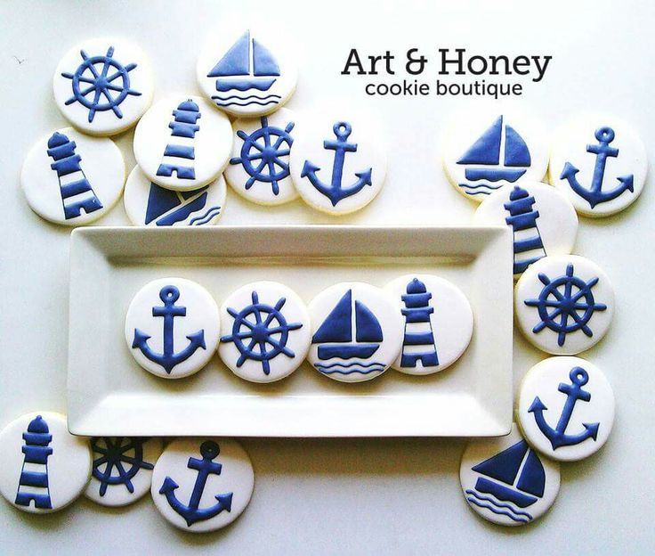 Art & Honey Cookie Boutique:  Nautical cookies.