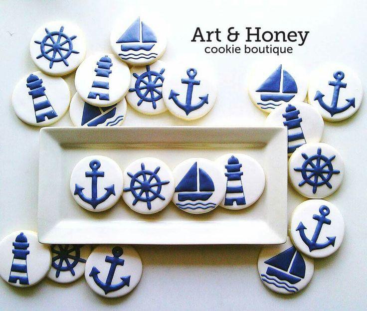 Art & Honey Cookie Boutique:  Nautical cookies.