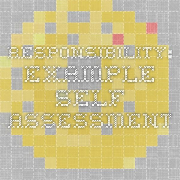 Best  Self Assessment Examples Ideas On   Student