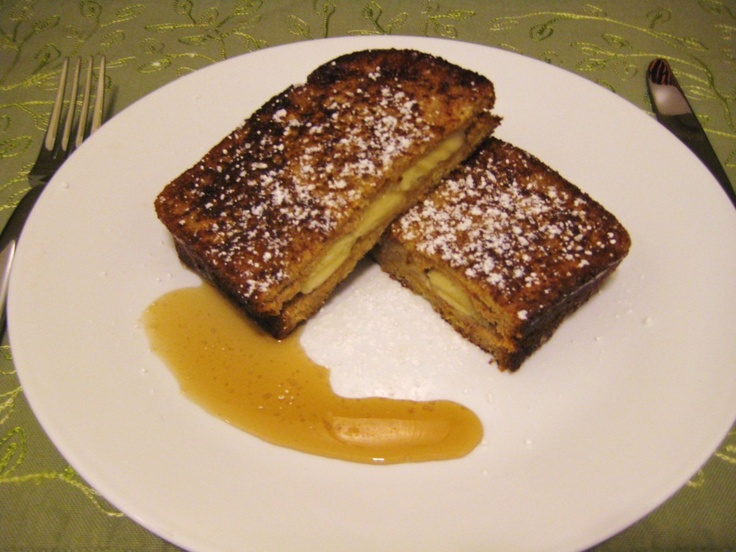 Banana Stuffed French Toast | Food and Drink | Pinterest
