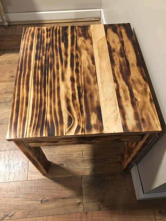 These Hand Cut Side Tables Come Are Sourced From The Forests Of Montana They Charred By Using Ancient Anese Shou Sugi Ban Method And Then