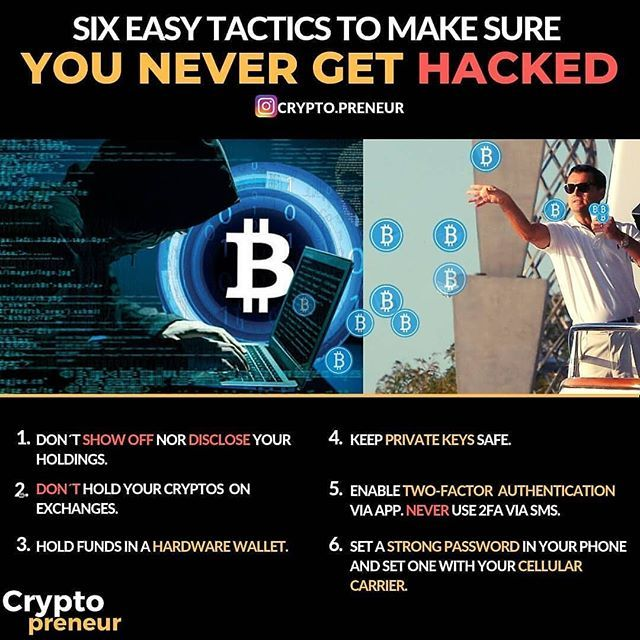 how to avoid getting hacked cryptocurrency